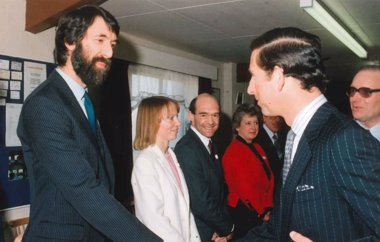 Tony Bond Meeting HRH Prince Charles At The Opening Of Wenta's First Business Centre In Watford, 1986