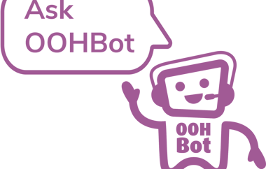 Oohbot A W Half Strapline RGB OOH Only White Bubble Png